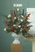 Military Funeral Flower Urn