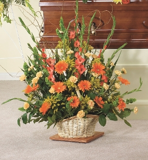 Funeral Flower Arrangements - Floor Baskets